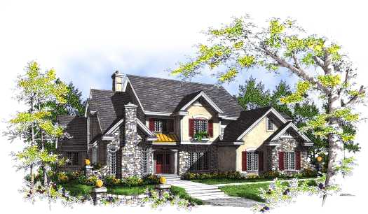 English-country Style Home Design Plan: 7-325