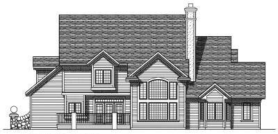 Rear Elevation Plan: 7-325