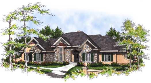 European Style House Plans Plan: 7-326