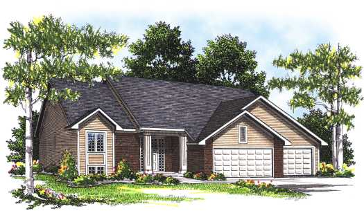Traditional Style Home Design Plan: 7-329