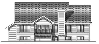 Rear Elevation Plan: 7-329