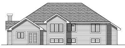Rear Elevation Plan: 7-330