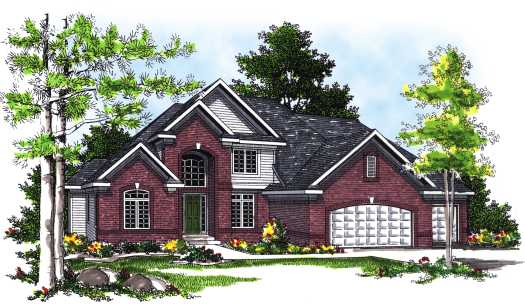 Traditional Style Home Design Plan: 7-332