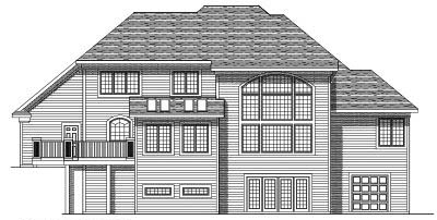 Rear Elevation Plan: 7-332