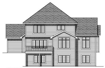 Rear Elevation Plan: 7-333
