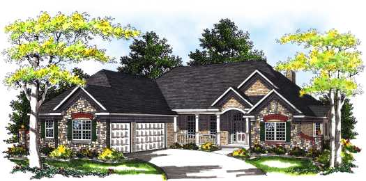 Traditional Style House Plans Plan: 7-334