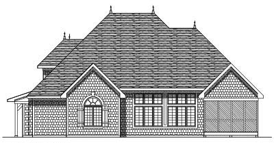 Rear Elevation Plan: 7-337