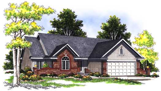 Traditional Style Home Design Plan: 7-338