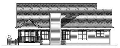 Rear Elevation Plan: 7-338