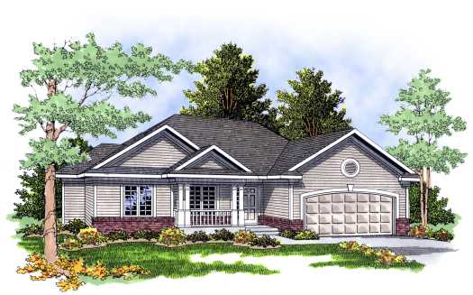 Traditional Style Home Design Plan: 7-340