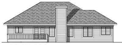 Rear Elevation Plan: 7-340