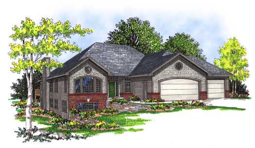Traditional Style Floor Plans Plan: 7-341