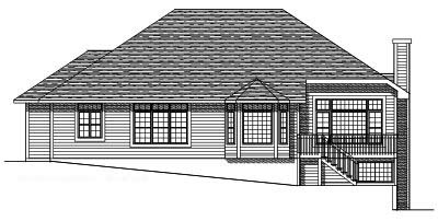 Rear Elevation Plan: 7-342