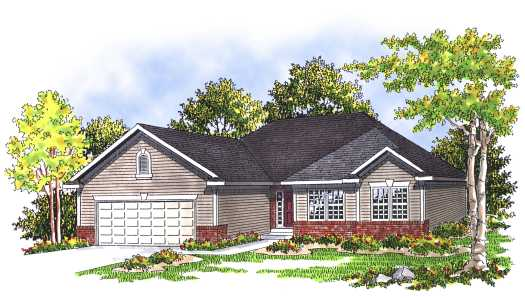 Traditional Style Home Design Plan: 7-343