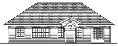 Rear Elevation Plan: 7-343