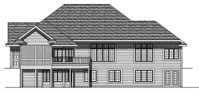 Rear Elevation Plan: 7-345