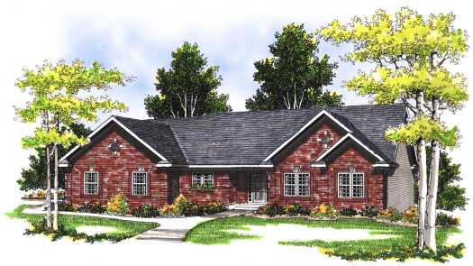 Traditional Style Home Design Plan: 7-348