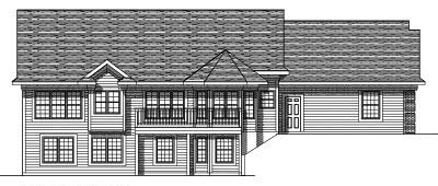 Rear Elevation Plan: 7-348