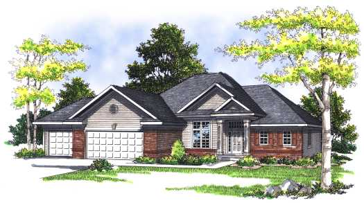 Traditional Style Home Design Plan: 7-349