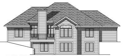 Rear Elevation Plan: 7-349
