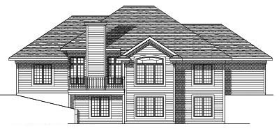 Rear Elevation Plan: 7-350