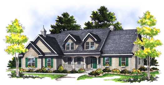 Country Style Floor Plans Plan: 7-351