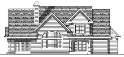 Rear Elevation Plan: 7-351