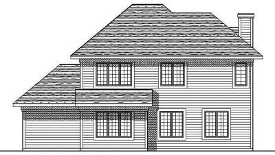 Rear Elevation Plan: 7-352