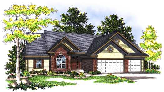 Traditional Style Home Design Plan: 7-353