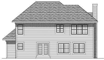 Rear Elevation Plan: 7-355