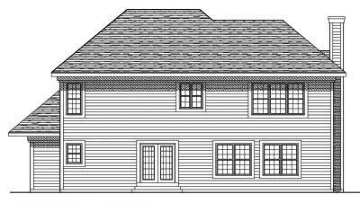 Rear Elevation Plan: 7-356