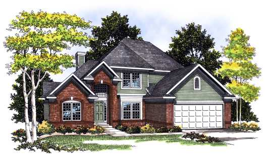 Traditional Style Home Design Plan: 7-357