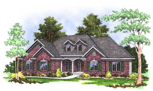 Traditional Style House Plans Plan: 7-358
