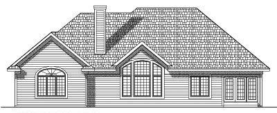 Rear Elevation Plan: 7-358