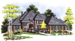 English-Country Style Floor Plans Plan: 7-359