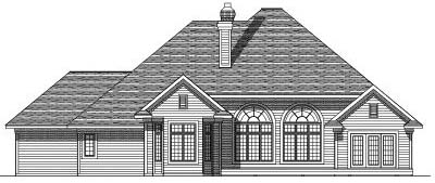 Rear Elevation Plan: 7-360
