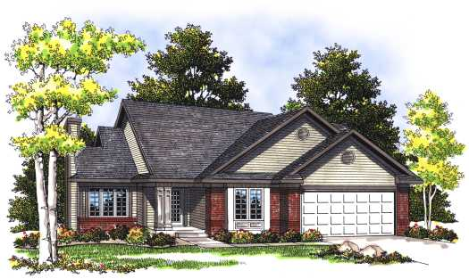 Traditional Style Home Design Plan: 7-361