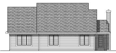 Rear Elevation Plan: 7-361