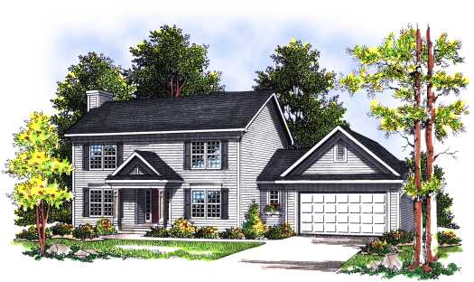 Colonial Style Floor Plans Plan: 7-362