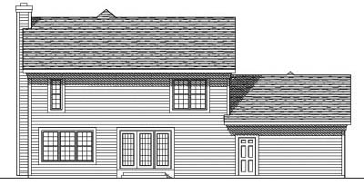 Rear Elevation Plan: 7-363