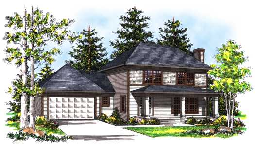 Traditional Style Floor Plans Plan: 7-364