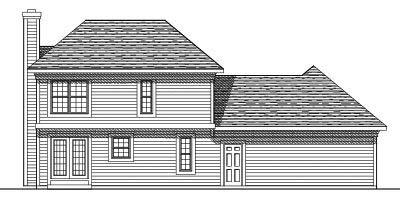 Rear Elevation Plan: 7-364