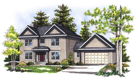 Traditional Style Home Design Plan: 7-365