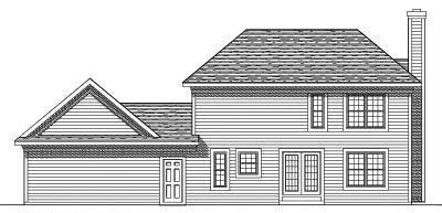 Rear Elevation Plan: 7-365