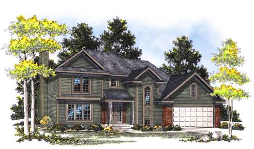 Traditional Style Home Design Plan: 7-366
