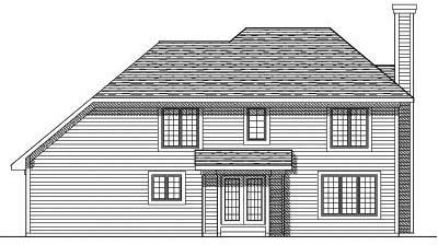 Rear Elevation Plan: 7-366