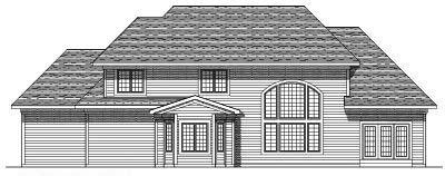 Rear Elevation Plan: 7-368
