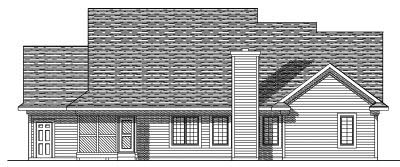 Rear Elevation Plan: 7-369