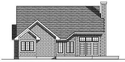 Rear Elevation Plan: 7-370
