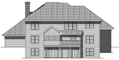 Rear Elevation Plan: 7-371